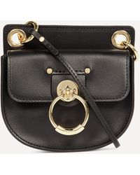 Chloé Tess Small Cross-body Saddle Bag - Black