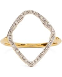 Monica Vinader Gold Plated Vermeil Silver Riva Hoop Cocktail Ring - Metallic