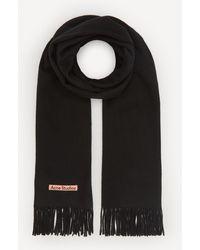 Acne Studios Canada New Wool Scarf - Black