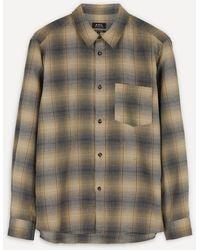 A.P.C. John Checked Flannel Overshirt - Multicolour