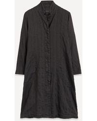 Oska Finnja Cotton Crepe Coat - Black