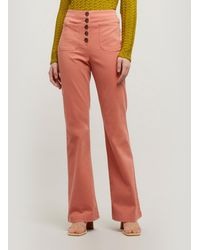Paloma Wool Margherita High-waist Cotton Trousers - Pink