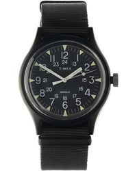 Timex Mk1 Aluminium Canvas Strap Watch - Black