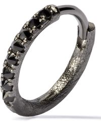Annoushka - 18ct Rhodium-plated White Gold Dusty Diamonds Large Hoop Earring - Lyst
