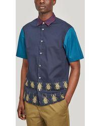Paul Smith Contrast Beetle Short-sleeve Shirt - Blue