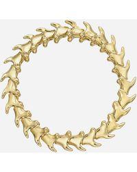 Shaun Leane Gold Plated Vermeil Silver Serpents Trace Wide Bracelet - Metallic
