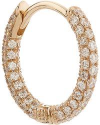 "Maria Tash - 5/16"" Diamond Five Row Pave Earring - Lyst"
