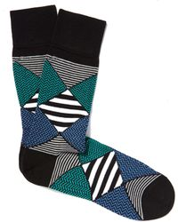 Smythson - Black Mixed Design Socks - Lyst