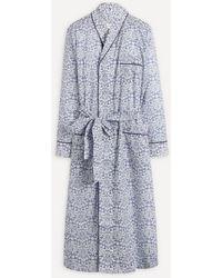 Liberty Mortimer Tana Lawn' Cotton Robe - Blue