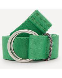 Ganni Webbing Belt - Green