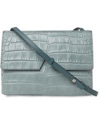 Vince - Green Stamped Croc Baby Crossbody Bag - Lyst