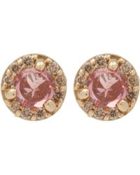 Anna Sheffield - Gold Tiny Rosette Earrings - Lyst