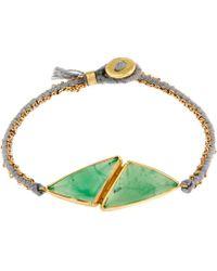 Brooke Gregson Gold Double Chrysoprase Silk Bracelet - Metallic