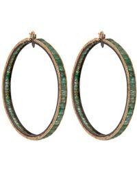 Nak Armstrong Gold Hoop Earrings - Metallic