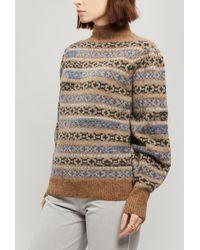 Étoile Isabel Marant Ned Fair Isle Knitted Wool Sweater - Multicolor