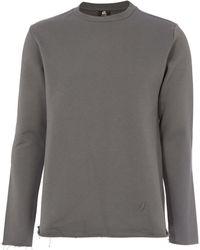 PS by Paul Smith - Grey Raw-edge Sweatshirt - Lyst