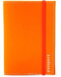 Undercover - Orange Leather Passport Holder - Lyst