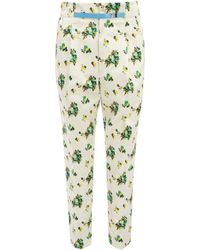 Toga Pulla - Floral Print Belted Tapered Trousers - Lyst