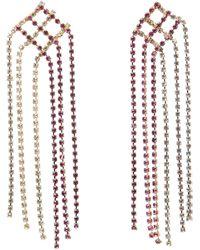 Rosantica Gold-tone Oasis Crystal Drop Earrings - Metallic