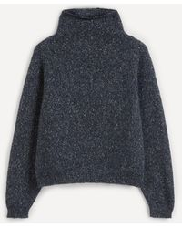 MASSCOB Sue Alpaca-mix Roll-neck Sweater - Blue