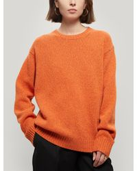 Acne Studios Samara Oversized Wool Jumper - Orange