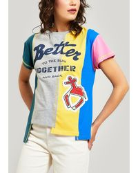 Mira Mikati Better Together Embroidered Cotton T-shirt - Blue