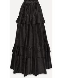 Etro Long Taffeta Skirt - Black