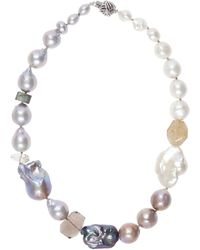 Stephen Dweck - Baroque Pearl And Quartz Ball Clasp Necklace - Lyst