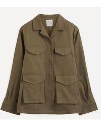 Totême Army Wool-mix Jacket - Green