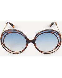 Chloé Carlina Halo Sunglasses - Blue