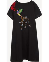 Stella Jean Oversized Kaftan Dress - Black