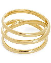 Maria Black Gold-plated Emilie Wrap Ring - Metallic