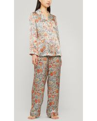 Liberty Tree Of Life Silk Charmeuse Pyjama Set - Multicolour