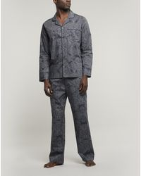 Liberty Francis Tana Lawntm Cotton Long Pyjama Set - Blue