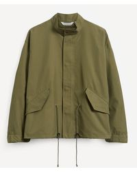 Uniform Bridge Fishtail Short Jacket - Green