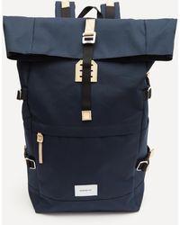 Sandqvist Bernt Roll Top Backpack - Blue