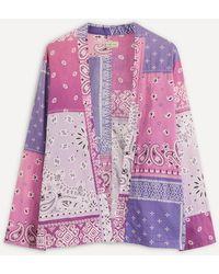 Kapital Bandana Kimono Shirt - Purple