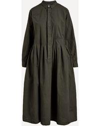 Pas De Calais Cotton Button-up Midi-dress - Grey