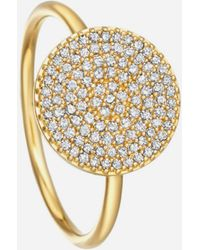 Astley Clarke Gold Icon Diamond Ring - Metallic