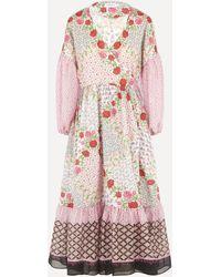 Liberty Talitha Tana Lawn Cotton Wrap Dress - Pink