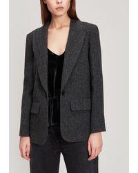 MASSCOB Pelican Structured Wool Blazer - Grey