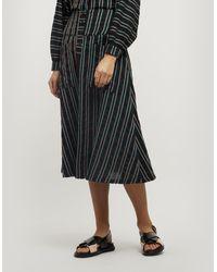 Ace & Jig Maisie Button-down Midi-skirt - Black