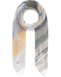 Oliver Spencer Grafton Striped Cotton Scarf - Grey