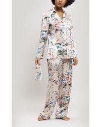 Liberty - Keiko Silk Charmeuse Long Pyjama Set - Lyst