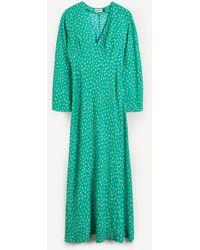 RIXO London Arielle V-neck Maxi-dress - Multicolour
