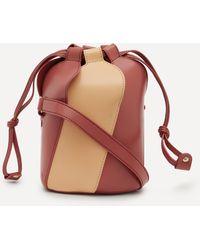 Chloé Tulip Mini Bi-colour Leather Bucket Bag - Multicolour