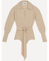 Nanushka Azha Long-sleeve Knit Bodysuit - Natural