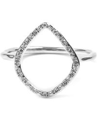 Monica Vinader Riva Diamond Hoop Ring - Metallic