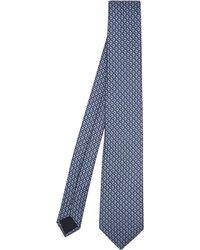 Lanvin - Geometric Print Silk Tie - Lyst