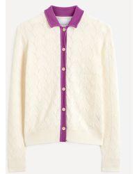 King & Tuckfield Contrast Collar Merino Wool Shirt - Multicolour